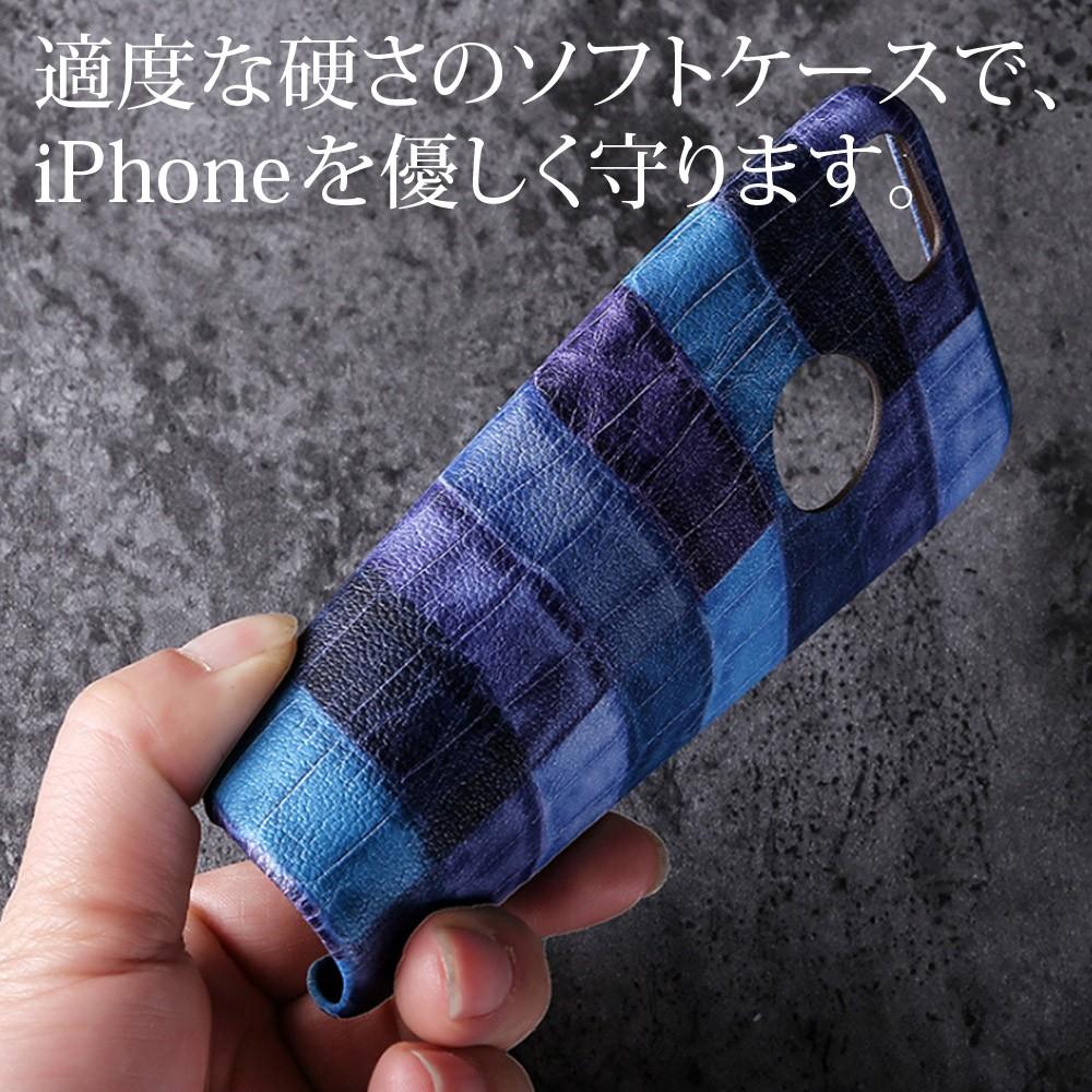iPhoneケース iPhoneX iPhone8 iPhone7 iPhone8Plus iPhone7Plus ソフト オータムクロコ3