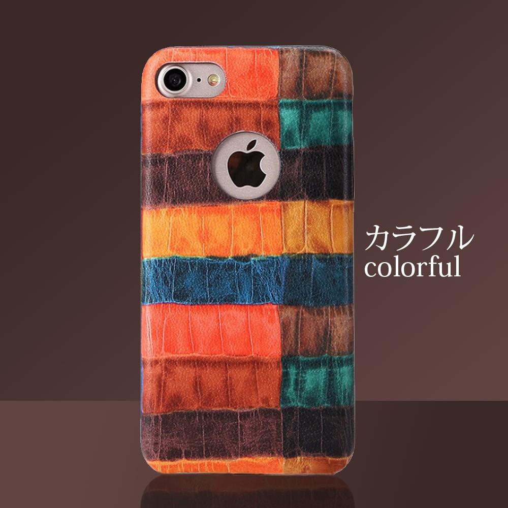iPhoneケース iPhoneX iPhone8 iPhone7 iPhone8Plus iPhone7Plus ソフト オータムクロコ5