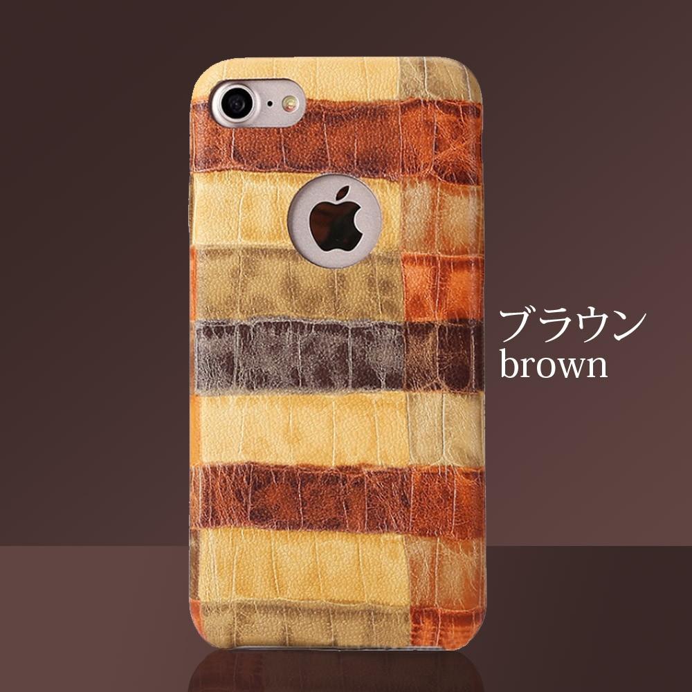 iPhoneケース iPhoneX iPhone8 iPhone7 iPhone8Plus iPhone7Plus ソフト オータムクロコ7