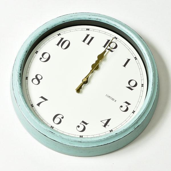ノア精密 エアリアル レトロ 電波時計 W-571 掛け時計 掛時計