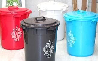 ゴミ箱 ごみ箱 丸型カラーペール 45L ダストボックス