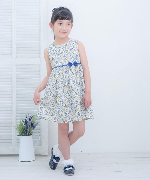1bc6ee1098d53 子供服 女の子 ワンピース・ジャンパースカート ノースリーブ 日本製 綿 ...