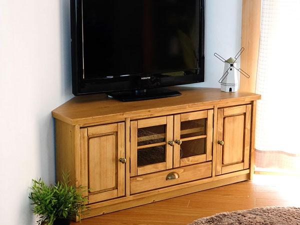 今なら送料無料、オイル仕上げのパイン材の110�幅カントリーコーナーテレビボード コーナーTVボード ルクレ 姫路家具 家具センタームラセ in 森のくに