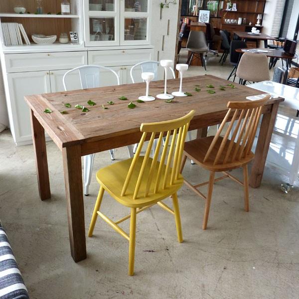 今なら送料無料、古材を使ったヴィンテージ調の160cm幅ダイニングテーブル ガルト アーベル160食卓テーブル アンティーク調 天然木無垢 MOSH 姫路家具 家具センタームラセ 森のくに