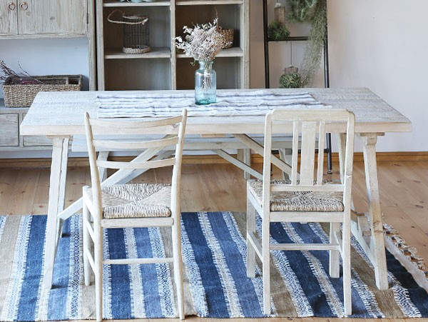 今なら送料無料、使い古したテイストが素敵なオーク材とシーグラス材を使用したシャビーな食卓イス ホリデイズ ジェナ ダイニングチェア jenna dining chair holidays nora.