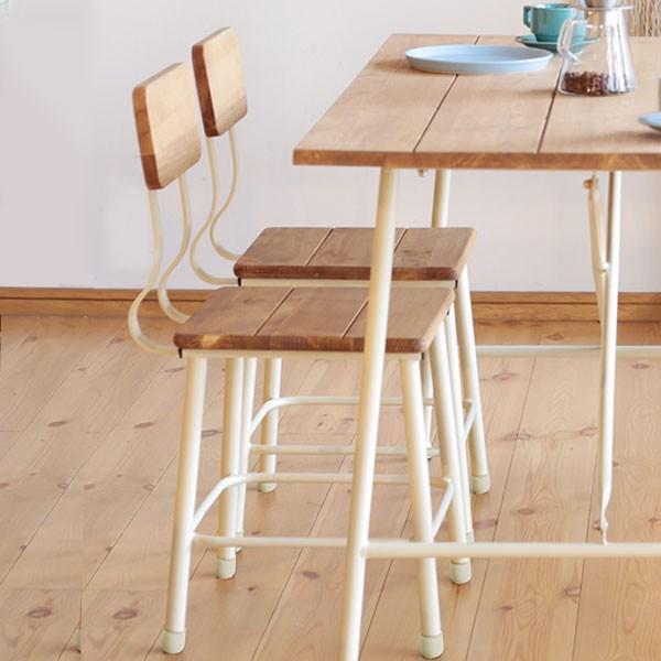 今なら送料無料!アイアンを使ったスッキリデザインの板座の可愛いカントリーダイニングチェアー フェロー チェア Fellow chair mam nora. 姫路家具 家具センタームラセ in 森のくに