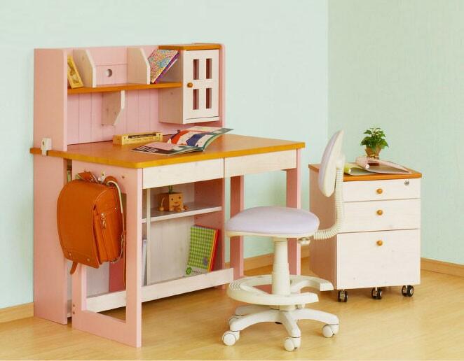 送料無料、お買い得。4色選べる可愛いパイン材の100cm幅組み換え学習机。本数限定品 シェリー キッズデスク 関家具