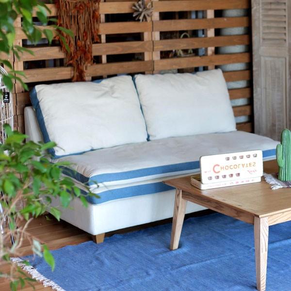 今なら送料無料、柔らかでふんわり横になりたい、ゆったり肘無布張り2Pブルーソファー スワープ 2人掛け2Pソファー アンジー ノラand g nora. 姫路家具 家具センタームラセ in 森のくに