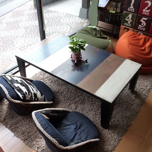 今なら送料無料、安心の日本製!北海道のナラ材を使ったビンテージでアートな120�こたつ ファン Fun 姫路家具 家具センタームラセ in 森のくに JAN/4942354507346