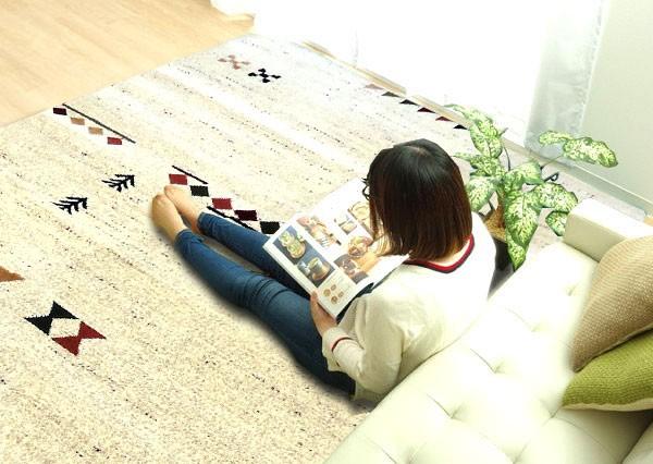 今なら送料無料、今なら送料無料、やめらかな肌触りのシンプルでかわいいウクライナ製のウィルトン織りラグ ビーノ イケヒコ・コーポレーション 200×250�幅お買い得なカーペット 姫路家具 家具センタームラセ 森のくに JAN:4956642687016