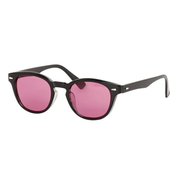サングラス メンズ カラーレンズ 伊達メガネ 眼鏡 メガネ 伊達めがね 黒ぶち眼鏡 UVカット ウェリントン スモーク ライトカラー おしゃれ 人気 ブルー ブラック|mostshop|22