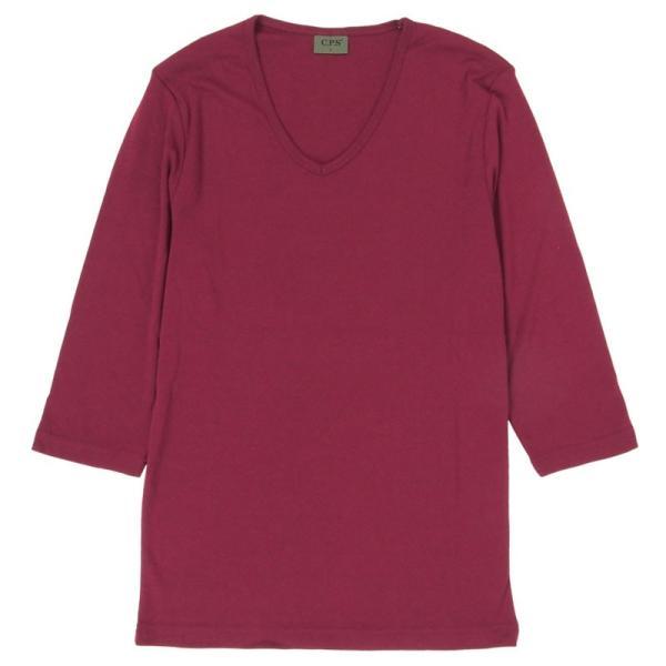 ロンT メンズ 長袖Tシャツ カットソー ロングTシャツ 7分袖 無地 Vネック シンプル インナー ストレッチ フライス トップス|mostshop|27