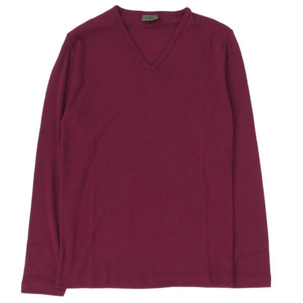 ロンT メンズ 長袖Tシャツ カットソー ロングTシャツ 7分袖 無地 Vネック シンプル インナー ストレッチ フライス トップス|mostshop|20
