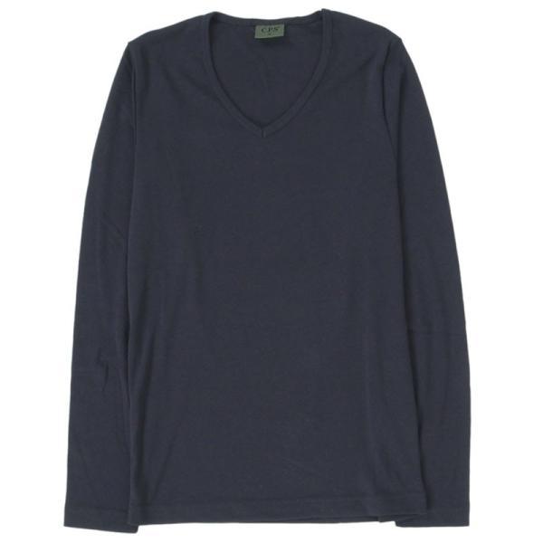 ロンT メンズ 長袖Tシャツ カットソー ロングTシャツ 7分袖 無地 Vネック シンプル インナー ストレッチ フライス トップス|mostshop|21