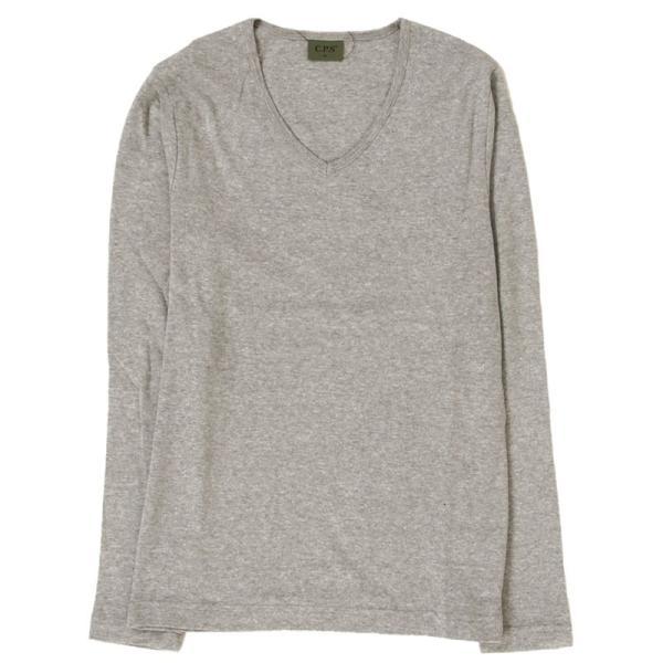 ロンT メンズ 長袖Tシャツ カットソー ロングTシャツ 7分袖 無地 Vネック シンプル インナー ストレッチ フライス トップス|mostshop|22