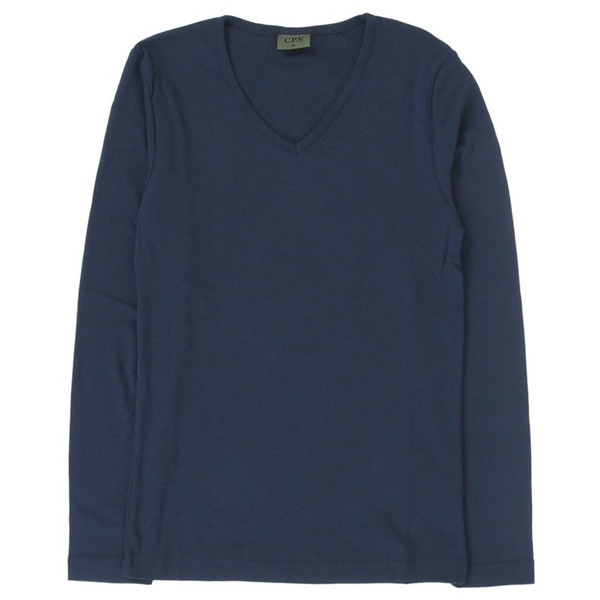 ロンT メンズ 長袖Tシャツ カットソー ロングTシャツ 7分袖 無地 Vネック シンプル インナー ストレッチ フライス トップス|mostshop|25