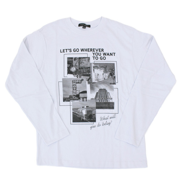 ロンT メンズ 長袖 Tシャツ プリントTシャツ ロングTシャツ クルーネック アメカジ ロゴT 文字 カットソー トップス セール|mostshop|26