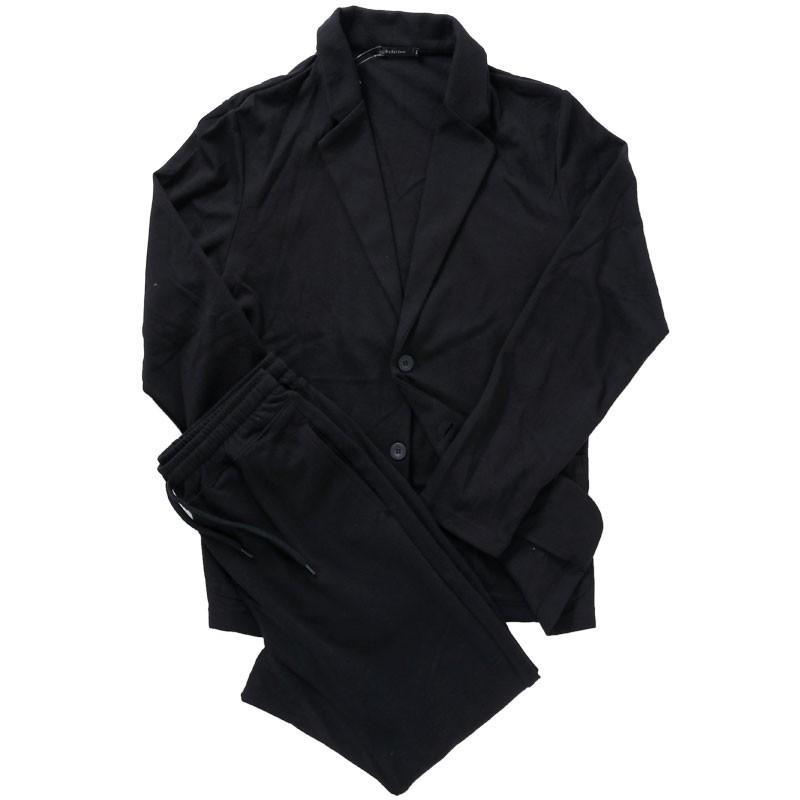 セットアップ メンズ カジュアルスーツ TCポンチスウェット素材 無地 テーラードジャケット ジョガーパンツ 上下セット|mostshop|20