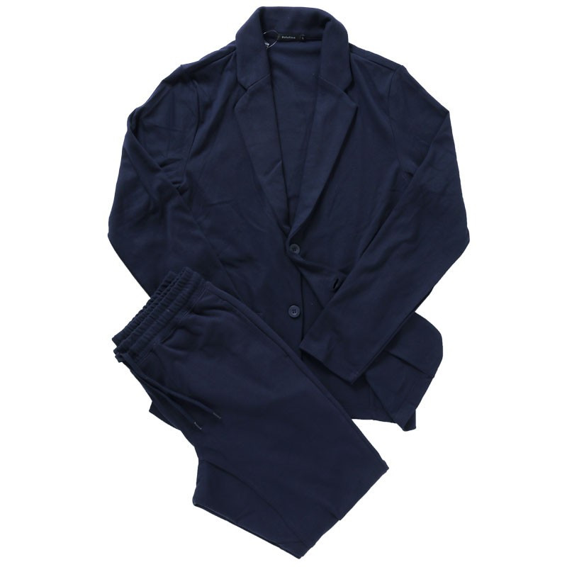 セットアップ メンズ カジュアルスーツ TCポンチスウェット素材 無地 テーラードジャケット ジョガーパンツ 上下セット|mostshop|23