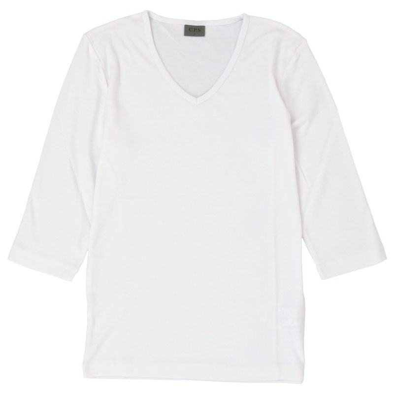 Tシャツ メンズ 半袖 無地 カットソー Vネック インナー 7分袖 半袖Tシャツ ストレッチ 伸縮 フライス トップス メンズファッション mostshop 30