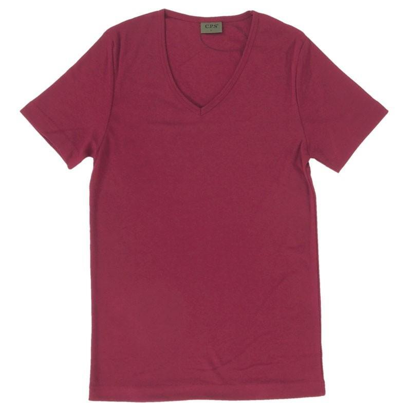 Tシャツ メンズ 半袖 無地 カットソー Vネック インナー 7分袖 半袖Tシャツ ストレッチ 伸縮 フライス トップス メンズファッション mostshop 23