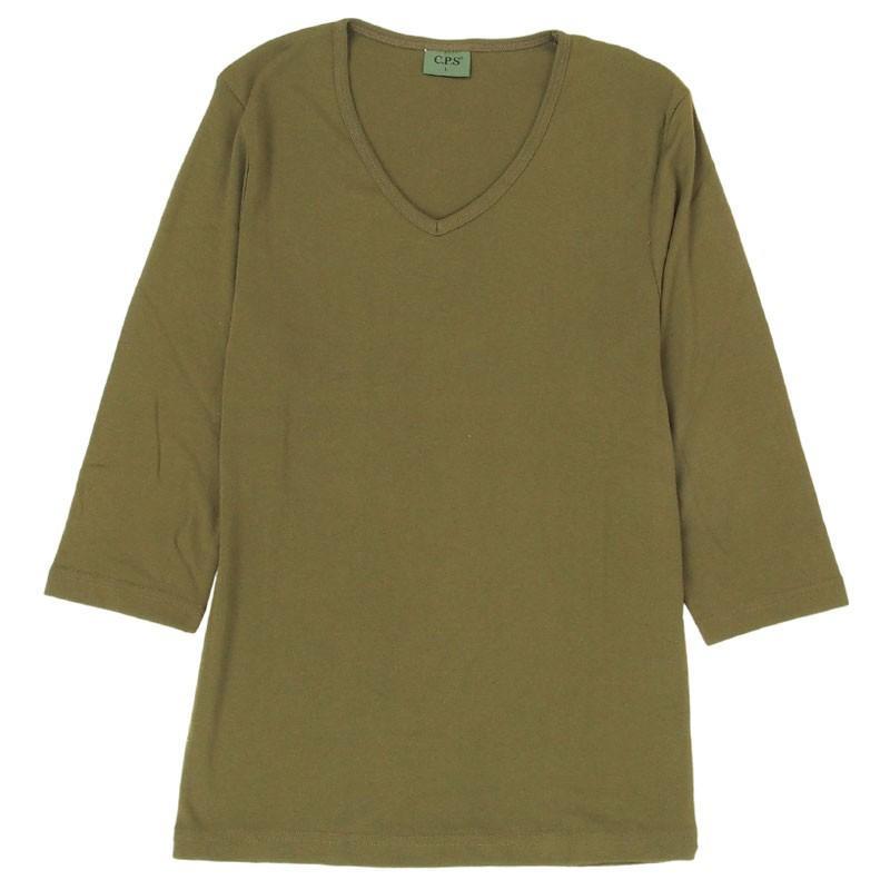 Tシャツ メンズ 半袖 無地 カットソー Vネック インナー 7分袖 半袖Tシャツ ストレッチ 伸縮 フライス トップス メンズファッション mostshop 34