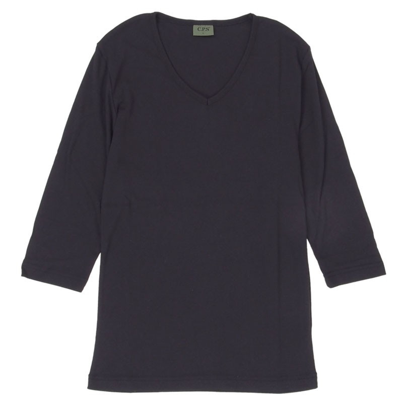 Tシャツ メンズ 半袖 無地 カットソー Vネック インナー 7分袖 半袖Tシャツ ストレッチ 伸縮 フライス トップス メンズファッション mostshop 35