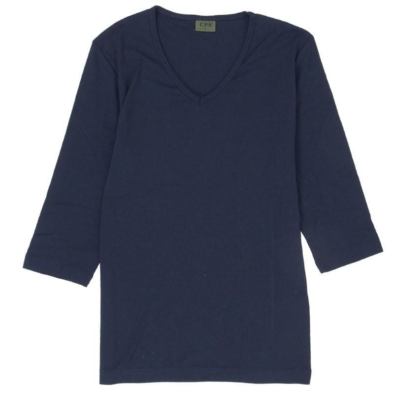Tシャツ メンズ 半袖 無地 カットソー Vネック インナー 7分袖 半袖Tシャツ ストレッチ 伸縮 フライス トップス メンズファッション mostshop 36