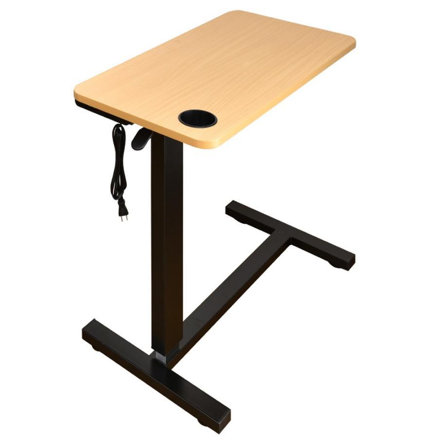 サイドテーブル おしゃれ レジェンド(コンセント・USB・カップホルダー付) -ART オーバーテーブル  ベッドテーブル  テレワーク デスク 在宅 勤務 昇降テーブル|mote-kagu|18