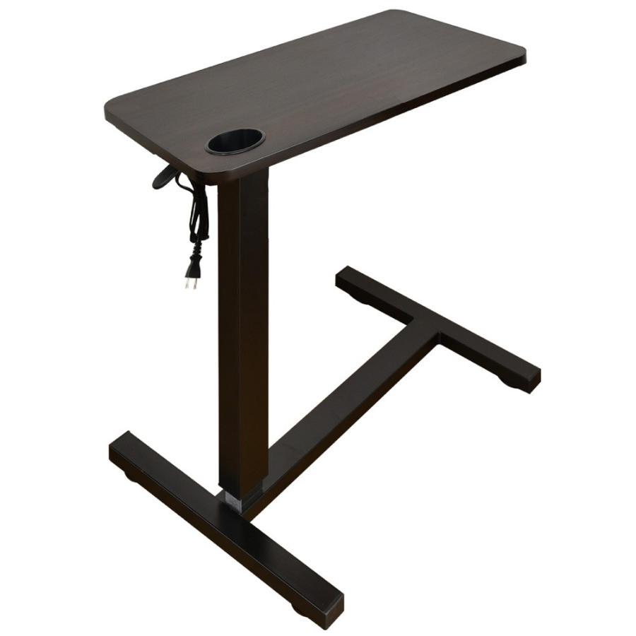 サイドテーブル おしゃれ レジェンド(コンセント・USB・カップホルダー付) -ART オーバーテーブル  ベッドテーブル  テレワーク デスク 在宅 勤務 昇降テーブル|mote-kagu|17