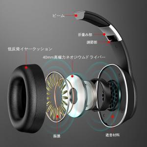 密閉型 Bluetoothヘッドホン ワイヤレス ヘッドホン 高音質 折りたたみ式 ケーブル着脱式 マイク内蔵 収納袋付き 日本語説明書 mrface 11