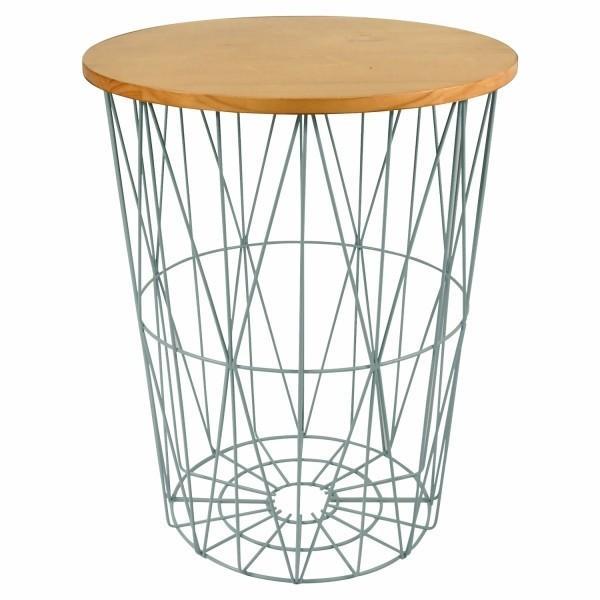バスケットテーブル サイドテーブル 在庫処分 Lサイズ 木製 北欧 おしゃれ ナチュラル おもちゃ かご テーブル インテリア 家具 収納 アイデア 人気 送料無料|mrg-japan|10
