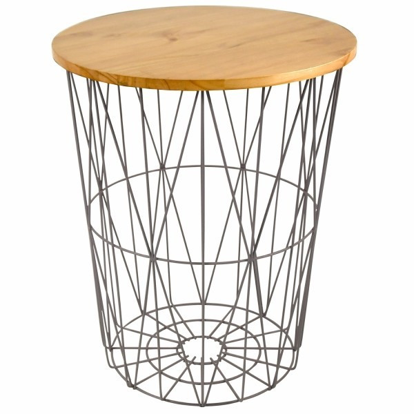 バスケットテーブル サイドテーブル 在庫処分 Lサイズ 木製 北欧 おしゃれ ナチュラル おもちゃ かご テーブル インテリア 家具 収納 アイデア 人気 送料無料|mrg-japan|09