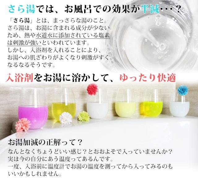 入浴剤 効果 効能