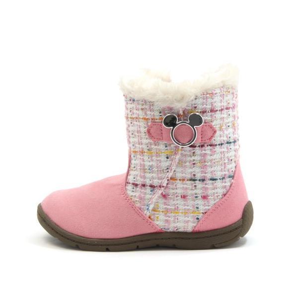 ディズニー ミッキーマウス Disney DN C1222 キッズ ジュニア 秋冬用 カジュアルブーツ ショート丈 ブラック ピンク ブラウン 子供用 靴 15-22cm mstage 21
