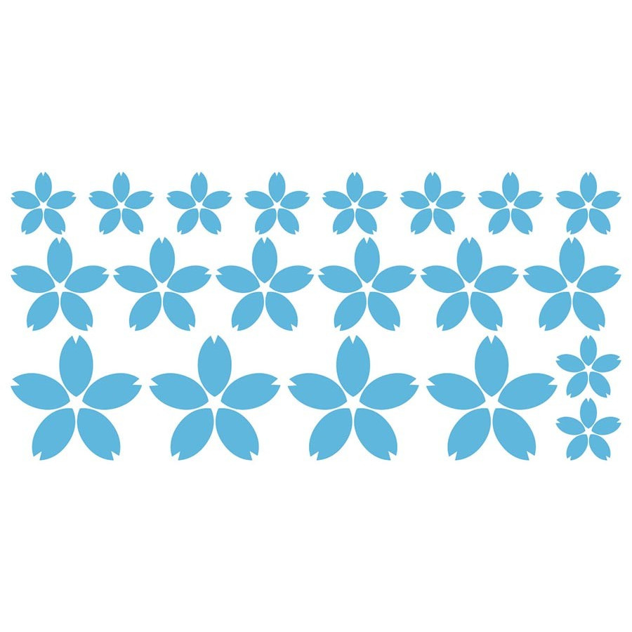 かわいい ステッカー 〜 桜 サクラ 花びら セット 〜 傷隠し 車 バイク スノーボード スキー ヘルメット タンク リアガラス|msworks|26