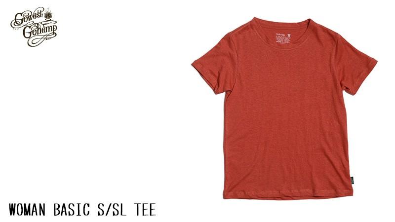 【ゴーヘンプ】【GOHEMP】WOMAN BASIC S/SL TEEウーマン ベーシックTシャツ