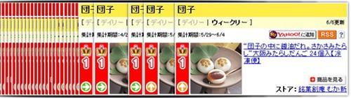 大阪みたらしだんご24個入 ウィークリーランキングで1位を獲得しました。