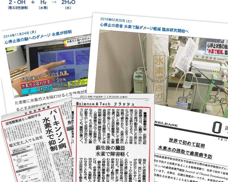 新聞や学会でも水素が紹介注目されています。