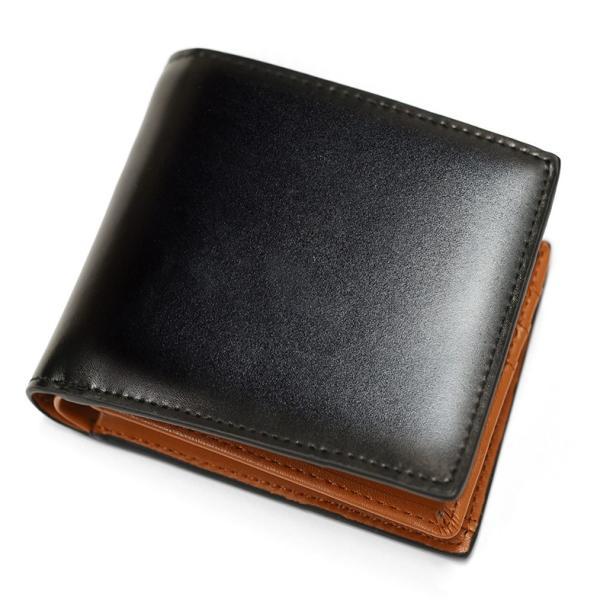 財布 メンズ 二つ折り 本革 薄い ボックス型 小銭入れ ブランド 二つ折り財布|mura|21