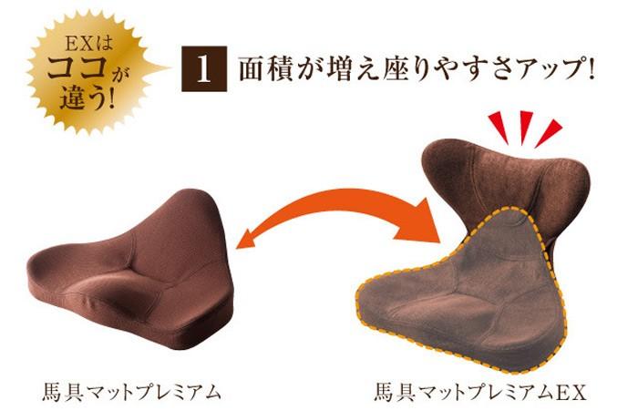 EXは、ココが違う!(1)面積が増え座りやすさアップ!