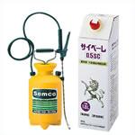 ムカデ・ヤスデ・ゲジ・ダンゴムシ・アリ・カメムシ駆除用殺虫剤サイベーレ0.5SCと噴霧器セット