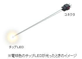 チップLED電球色の光るイメージ