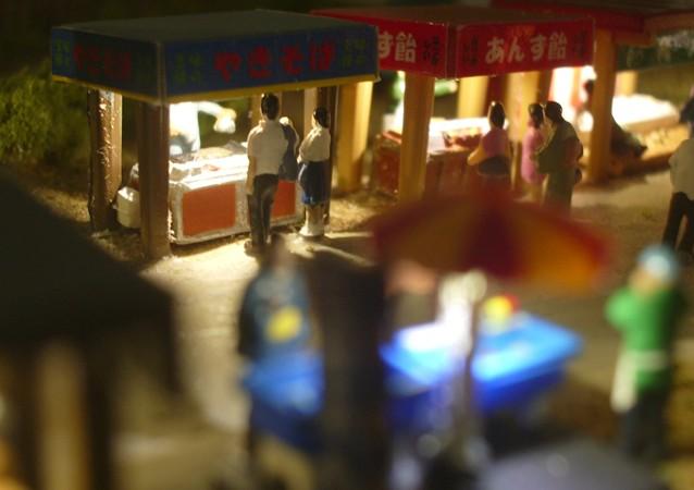 鉄道模型Nゲージミニジオラマ 焼きそばの露店