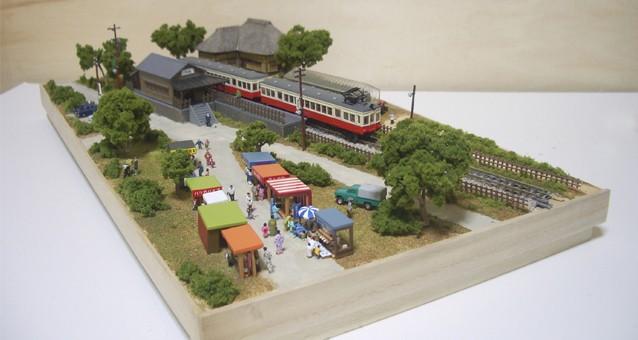 Nゲージミニジオラマ「昭和の田舎の夏休み」全景