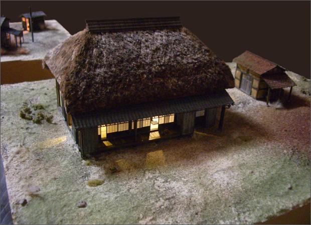 造形模型作品「茅葺農家1」