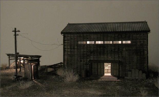造形模型作品「木造倉庫1」