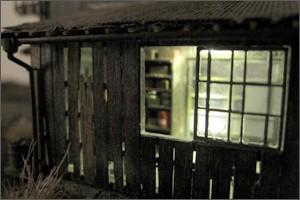 造形模型作品「トラック車庫5」