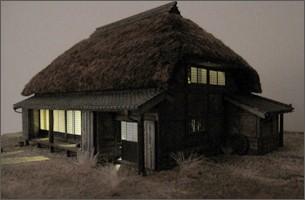 造形模型作品「茅葺農家2」