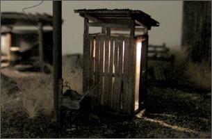造形模型作品「木造倉庫3」